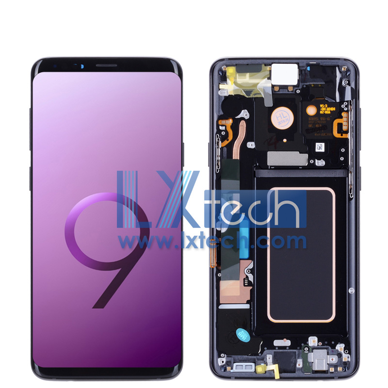 S9 Plus G965 LCD Screen Complete with  frame